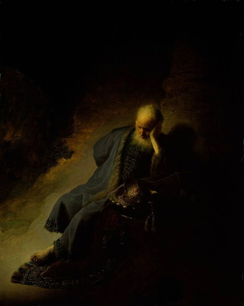 Rembrandt: Jeremiah lamenting the destruction of Israel