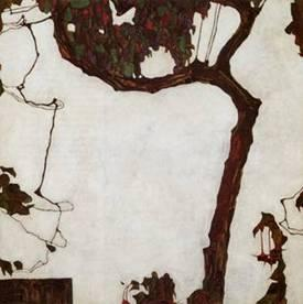 Schiele Autumn Tree in Movement