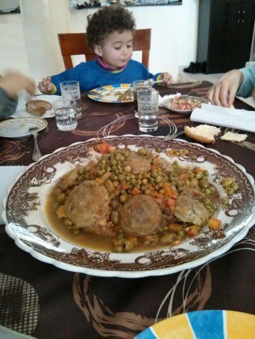 Tagine Peas Artichokes